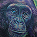 Chimpanzee Portrait Tattoo Tattoo Design Thumbnail
