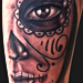 Tattoos - Day of the Dead half face - 74789