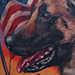 Tattoos - American Flag and Dog Tattoo - 72778