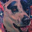 Space Dog Tattoo Tattoo Design Thumbnail