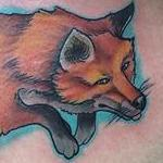Playful fox tattoo Tattoo Design Thumbnail
