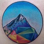 Geo Mountain Tattoo Design Thumbnail