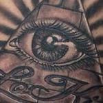 Tattoos - Illuminati eye tattoo - 100641