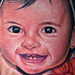Tattoos - Cute Baby Portrait Tattoo - 87284