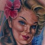 Pin Up Girl Tattoo Design Thumbnail