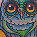 Tattoos - Stained Glass Owl Tattoo - 72773