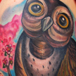 Tattoos - Owl in a Tree Tattoo - 59998