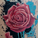 Tattoos - Splatter Rose - 79254