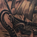 tattoo galleries/ - Pirate ship and Kraken Tattoo - 75823