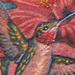 Tattoos - Humming Bird and Hawaiian flowers tattoo - 70437