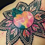 Watercolor Mandala Tattoo Design Thumbnail