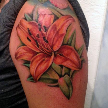Orange Lily Tattoo Design Thumbnail
