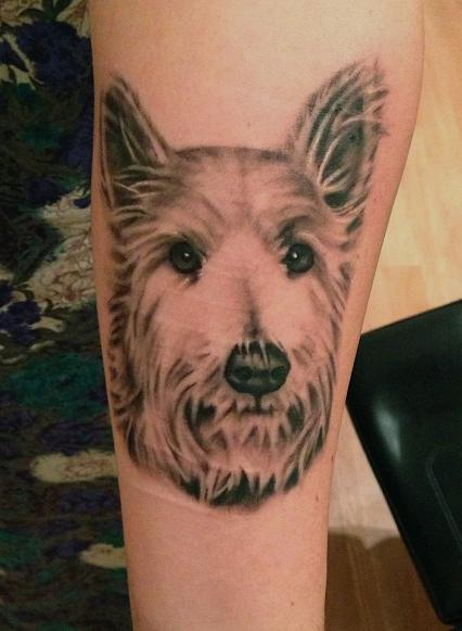 dog portrait Tattoo Design Thumbnail