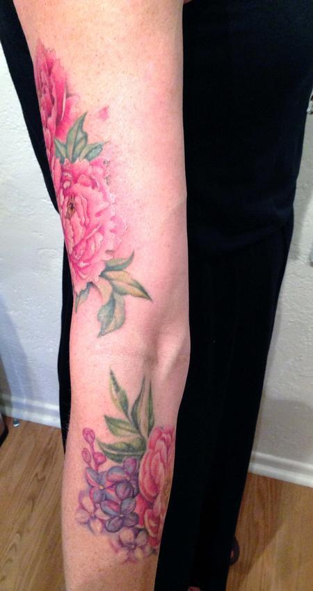 Peonies and Lilacs  Tattoo Design Thumbnail