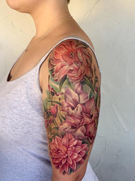 Floral sleeve Tattoo Design Thumbnail