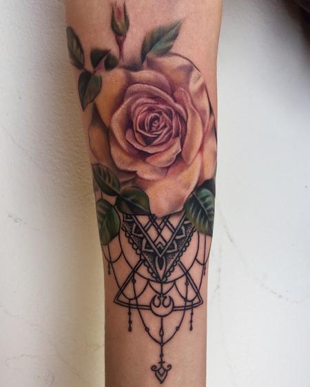Yellow Rose  Tattoo Design Thumbnail