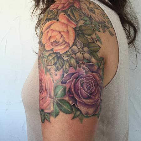 Purple Rose Tattoo Design Thumbnail