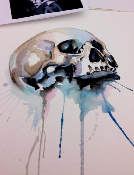 watercolor  Tattoo Design Thumbnail