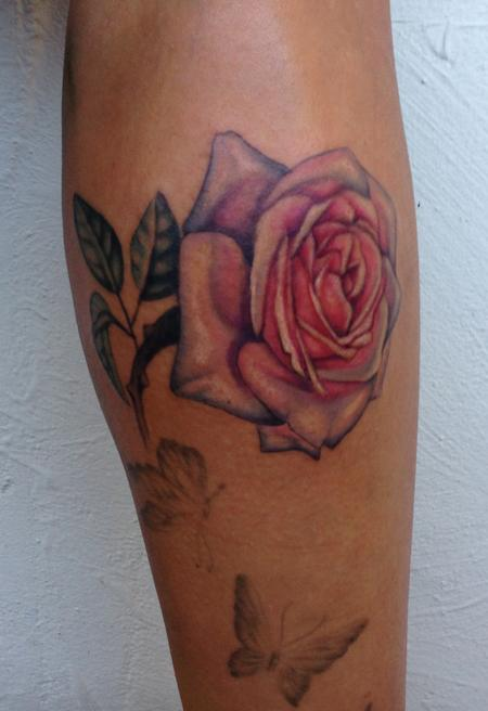 Rose Addition Tattoo Design Thumbnail
