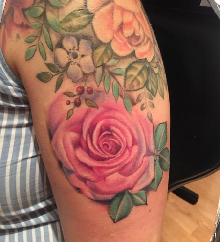 Pink rose Tattoo Design Thumbnail