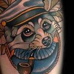 Neo Traditional Nautical Racoon Tattoo Tattoo Design Thumbnail