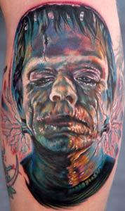 Mario Rosenau - Frankenstien Tattoo