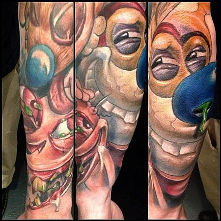 Tattoos - ren and stimpy