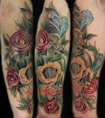 Mark Blanchard - sugar skull and roses