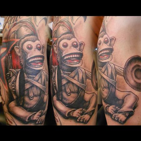 Tattoos - exploding monkey - 85884