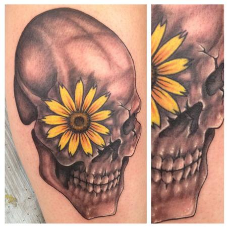 Tattoos - freehand skull - 85894