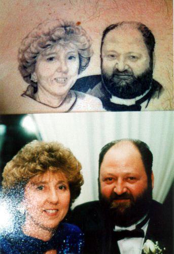 Portrait of a couple by daniel carroll tattoonow for Tattoo shops salem nh