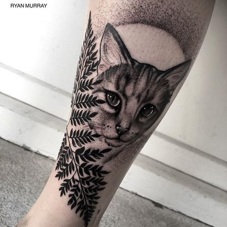 Tattoos - Blackwork Cat - 120316