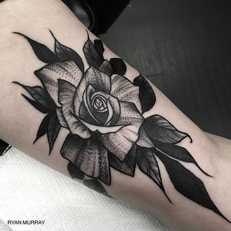 Tattoos - Blackwork Flower - 120318