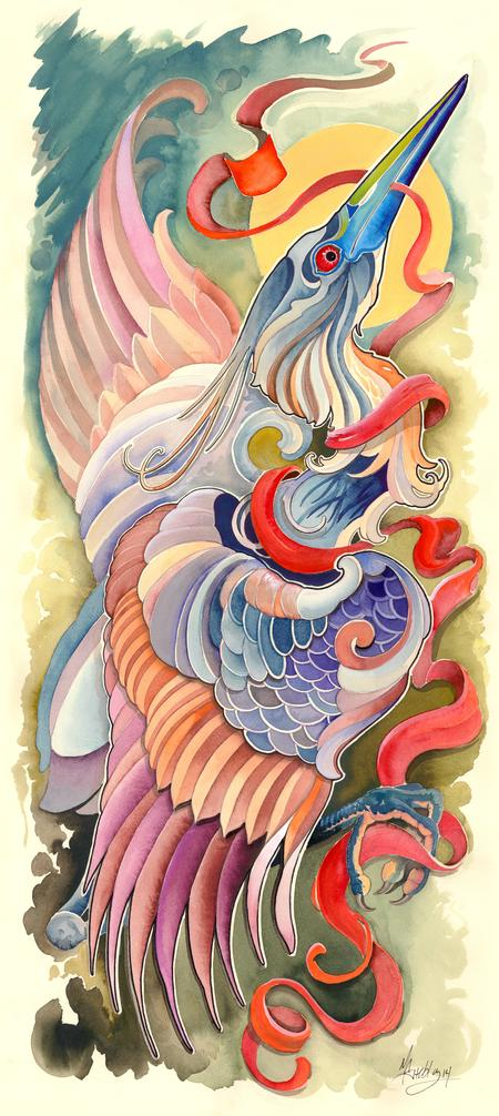 Matt Stebly - tri color heron