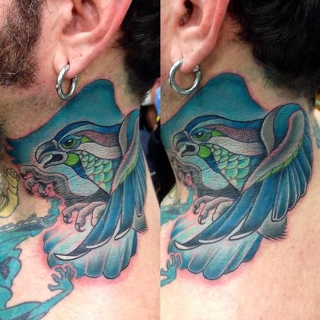 Tattoos - Neck osprey - 87397