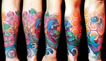 Tattoos - Bird and bee - 87571