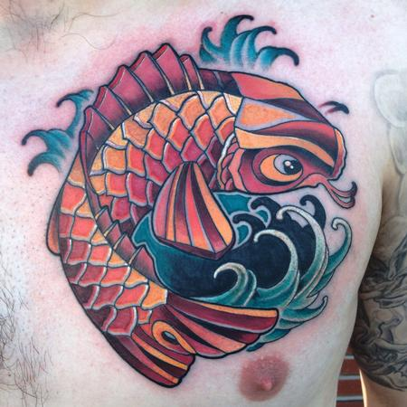 Koi cover up Tattoo Design Thumbnail
