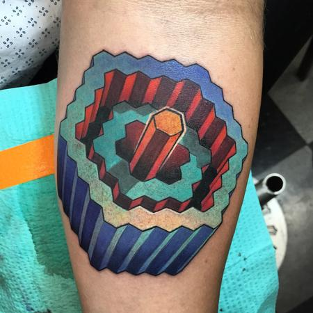 Matt Stebly - Optical illusion tattoo