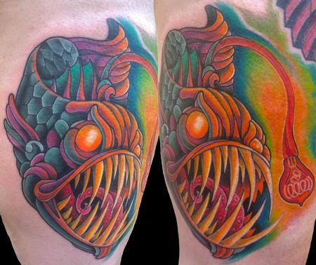 angler fish tattoo