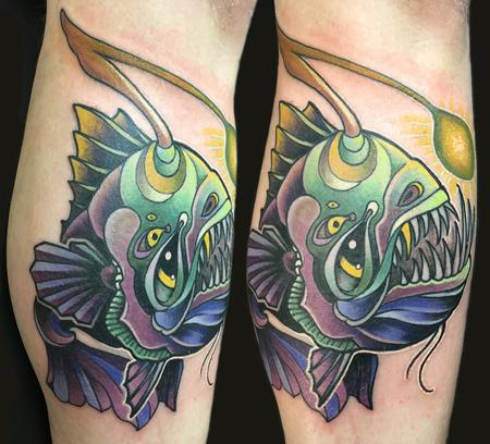 angler fish  Tattoo Design Thumbnail