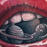 Space lips  Tattoo Design Thumbnail
