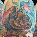 Tattoos - bear and bird  - 99546