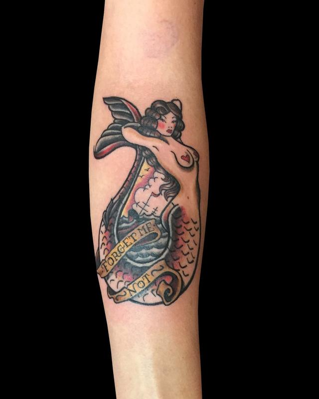 Sailor jerry mermaid by lhena love tattoonow for Sailer jerry tattoo