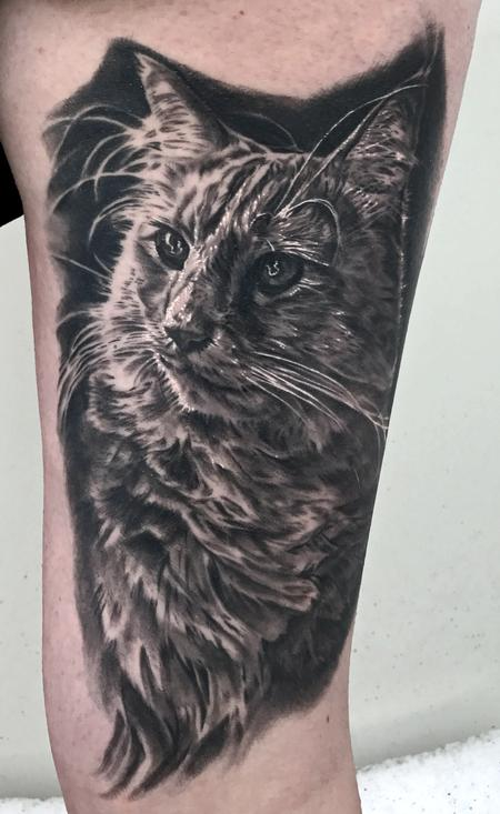 Cat Portrait Tattoo Design Thumbnail