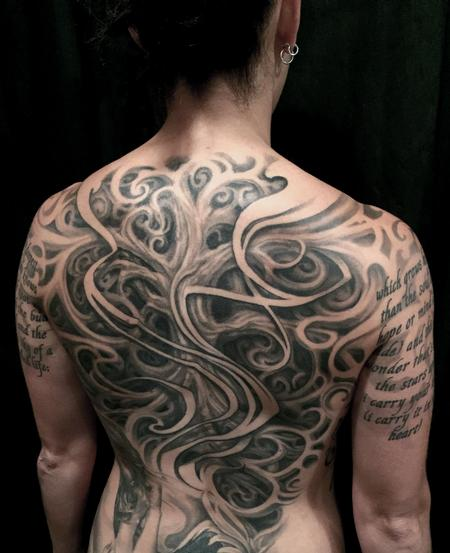 Tattoos - TREE OF LIFE FEMALE BACKPIECE TATTOO - 109366