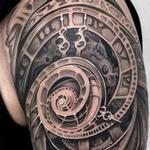 REALISTIC ABTRACT CLOCK TATTOO Tattoo Design Thumbnail