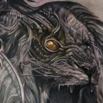 Bio Mechanical Roaring Lion Chest Tattoo Tattoo Design Thumbnail