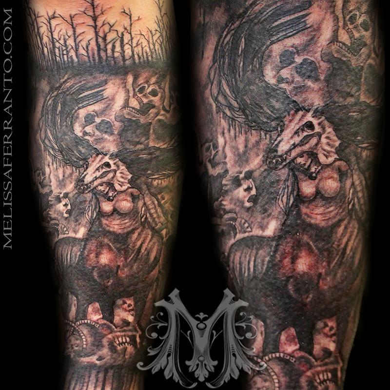 hell tattoo by melissa ferranto tattoos. Black Bedroom Furniture Sets. Home Design Ideas