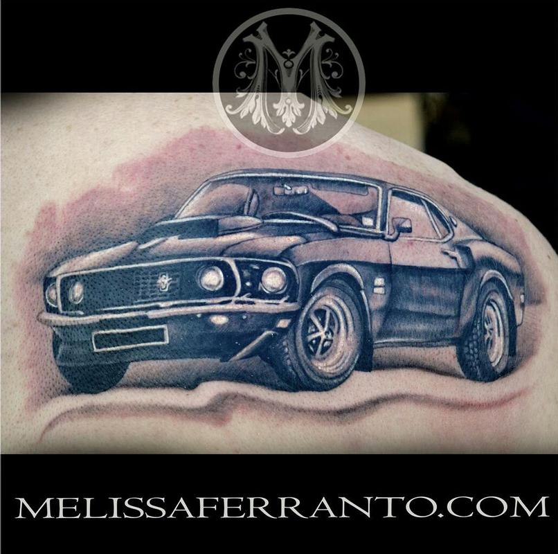 39 69 mustang by melissa ferranto tattoonow for Jacksonville nc tattoo shops