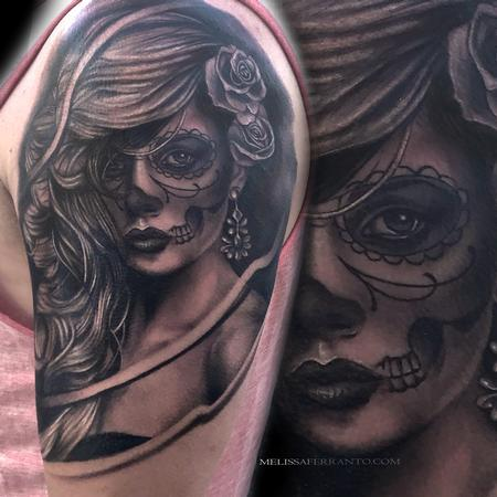 Tattoos - SUGAR SKULL PORTRAIT  - 128389